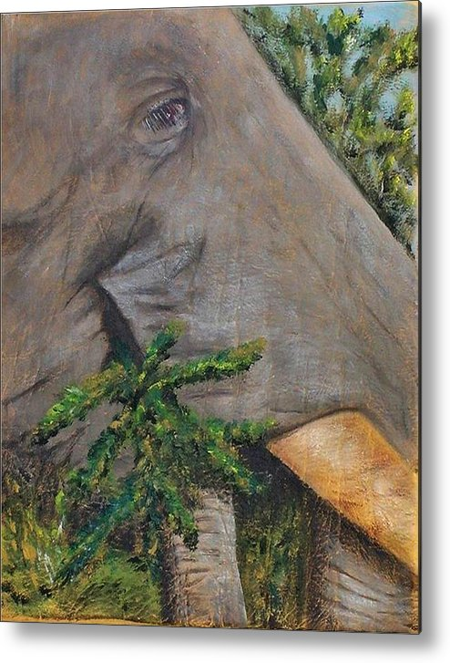 Animal Metal Print featuring the painting Tasty Thistle by Merle Blair