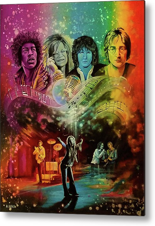 Hendrix Metal Print featuring the painting The 4js by DC Houle