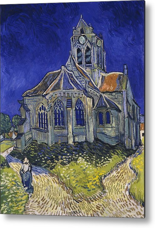 Vincent Van Gogh Metal Print featuring the painting The Church At Auvers by Van Gogh