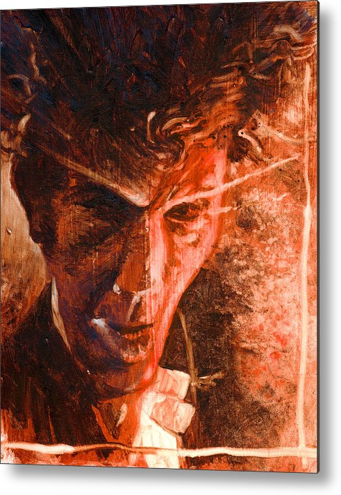 Tom Waits Metal Print featuring the painting The Devil Waits by Ken Meyer jr
