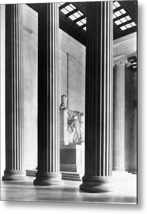 Lincoln Memorial Metal Print featuring the photograph The Lincoln Memorial by War Is Hell Store
