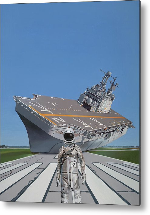 Astronaut Metal Print featuring the painting The Runway by Scott Listfield