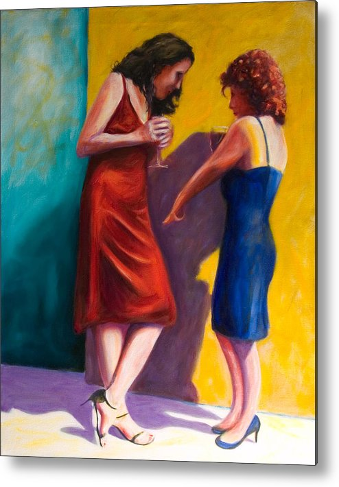 Figurative Metal Print featuring the painting There by Shannon Grissom