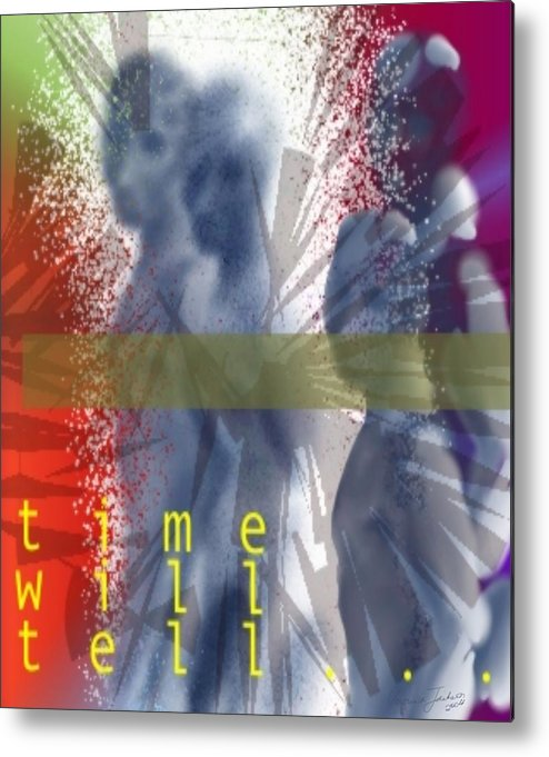 Afterlife Dream Surreal People Metal Print featuring the digital art Time will tell by Veronica Jackson