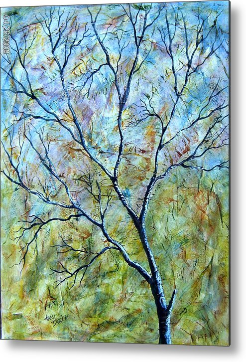 Metal Print featuring the painting Tree number two by Tami Booher