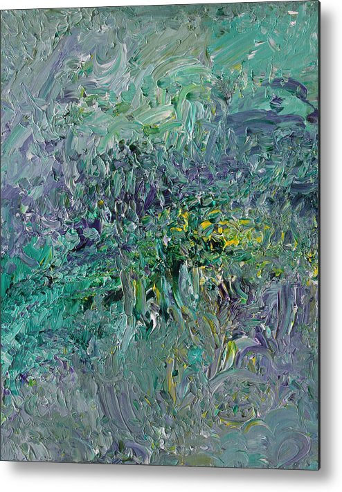 Fusionart Metal Print featuring the painting Blind Giverny by Ralph White