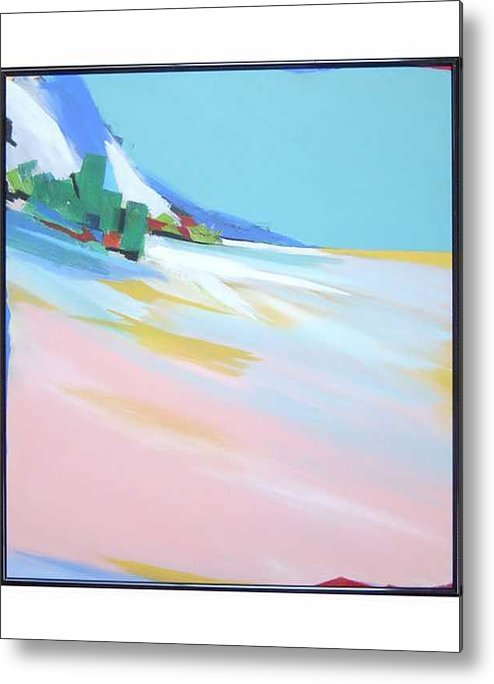 Abstracted Landscape Metal Print featuring the painting Untitled Landscape by Marston A Jaquis