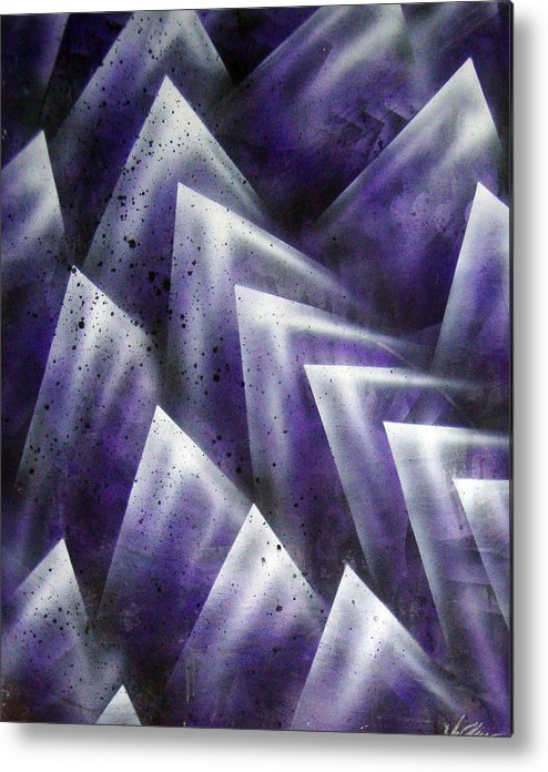 Organic Metal Print featuring the painting Upward by Leigh Odom