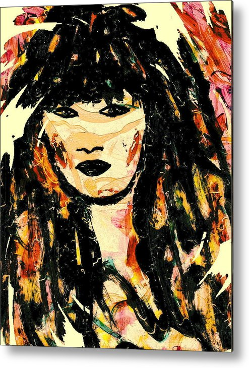 Woman Metal Print featuring the mixed media Veronica by Natalie Holland