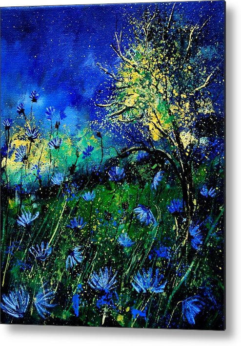 Poppies Metal Print featuring the painting Wild Chocoree by Pol Ledent