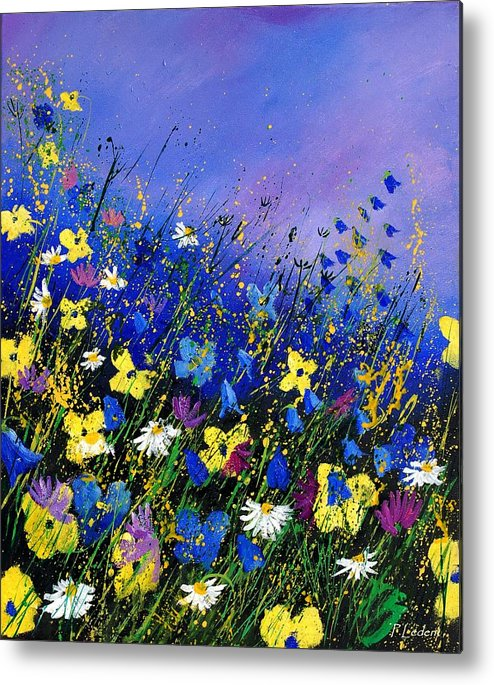Flowers Metal Print featuring the painting Wild flowers 560908 by Pol Ledent
