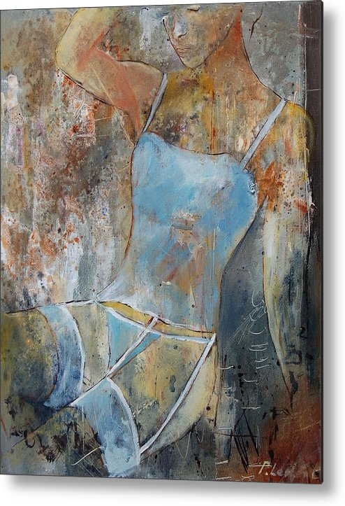 Nude Metal Print featuring the painting Young Girl 451108 by Pol Ledent
