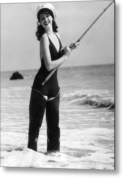 Pole Metal Print featuring the photograph Ava Gardner by Hulton Archive