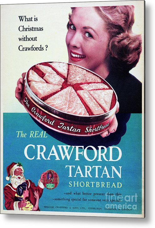Shortbread Metal Print featuring the photograph Crawford Tartan Shortbread by Picture Post