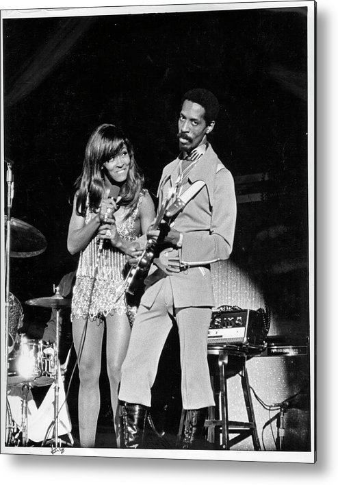 Music Metal Print featuring the photograph Ike & Tina At The Greek by Michael Ochs Archives