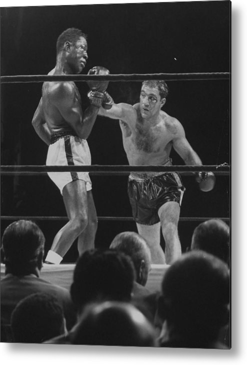 Timeincown Metal Print featuring the photograph Rocky Marcianoezzard Charles by Ralph Morse