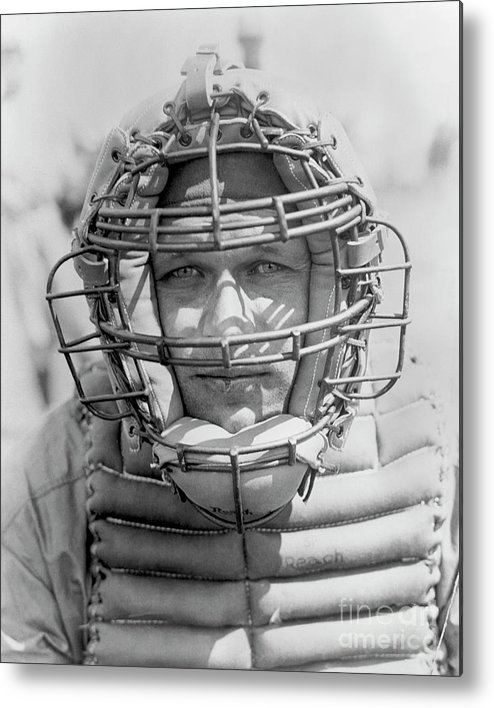 Baseball Catcher Metal Print featuring the photograph National Baseball Hall Of Fame Library by National Baseball Hall Of Fame Library