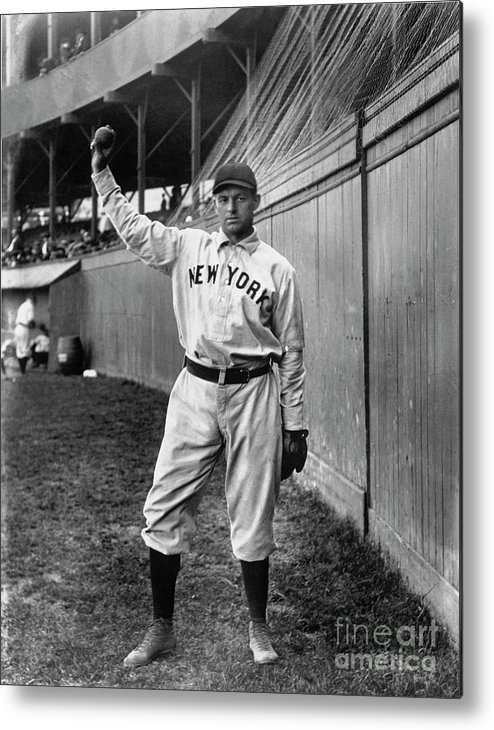 Sports Ball Metal Print featuring the photograph National Baseball Hall Of Fame Library by National Baseball Hall Of Fame Library