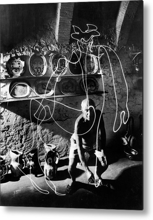 Pablo Picasso Metal Print featuring the photograph Pablo Picassopablo Picasso Misc by Gjon Mili
