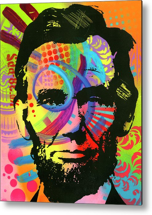 Abraham Lincoln Ii Metal Print featuring the mixed media Abraham Lincoln Yeah Bro by Dean Russo- Exclusive