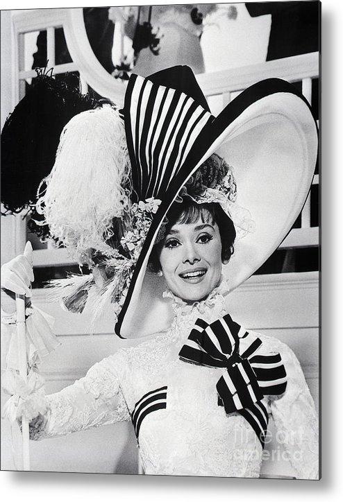 Belgium Metal Print featuring the photograph Audrey Hepburn As Eliza Doolittle by Bettmann