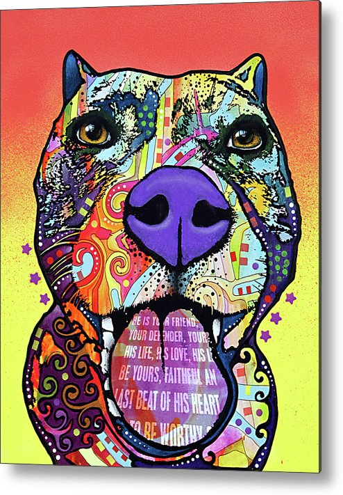 Bark Don?t Bite Metal Print featuring the mixed media Bark Don?t Bite by Dean Russo