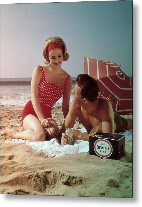 Alcohol Metal Print featuring the photograph Beer On The Beach by Tom Kelley Archive