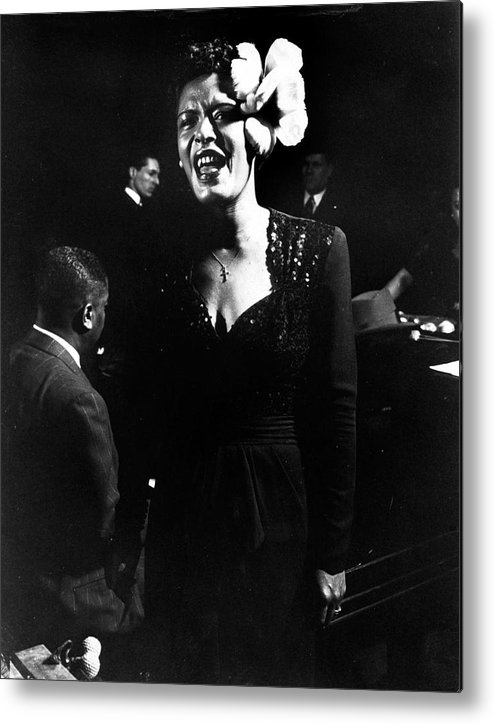Event Metal Print featuring the photograph Billie Holiday by Gjon Mili