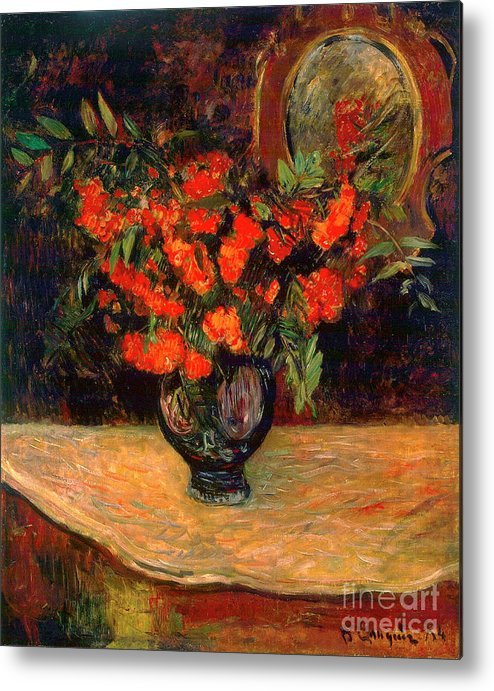 Paul Gauguin Metal Print featuring the drawing Bouquet, 1884. Artist Paul Gauguin by Heritage Images