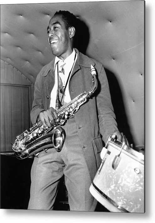 Music Metal Print featuring the photograph Charlie Parker Performing by Michael Ochs Archives
