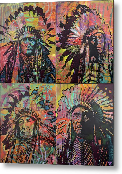 Chiefs Quadrant Metal Print featuring the mixed media Chiefs Quadrant by Dean Russo