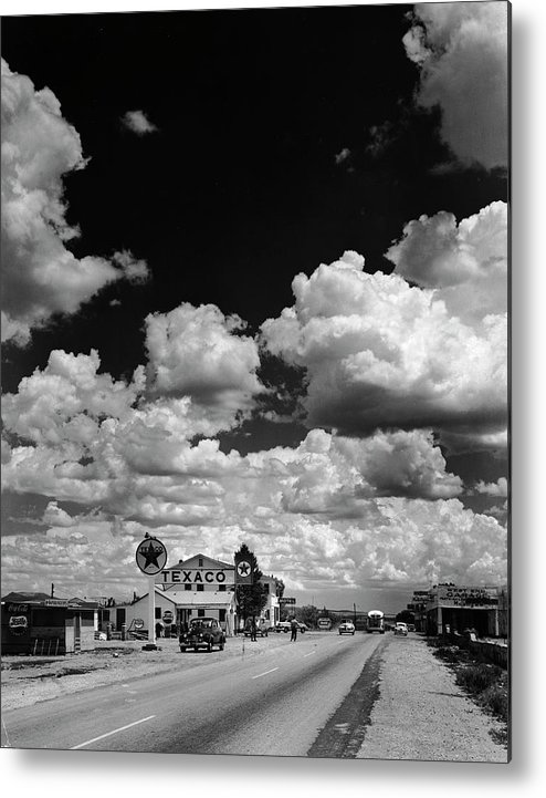 Timeincown Metal Print featuring the photograph Clouds Over Seligman by Andreas Feininger