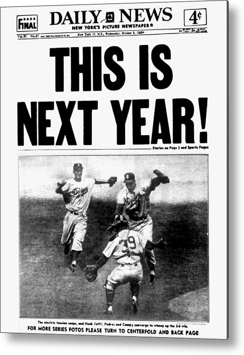 1950-1959 Metal Print featuring the photograph Daily News Front Page October 5, 1955 by New York Daily News Archive