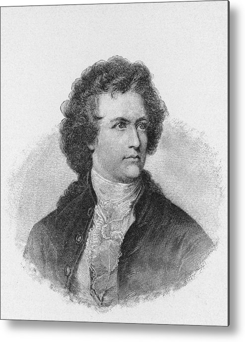 Engraving Metal Print featuring the photograph Engraving Of Johann Wolfgang Von Goethe by Kean Collection