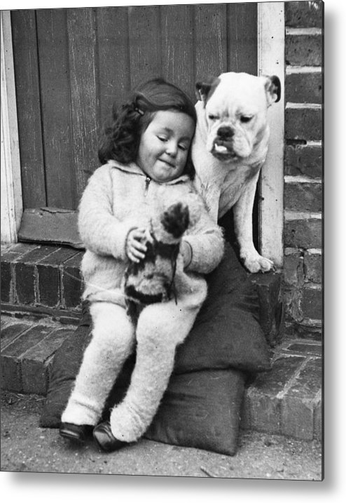 Pets Metal Print featuring the photograph Girls Best Friend by Fox Photos