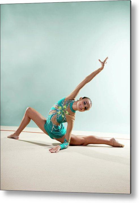 Human Arm Metal Print featuring the photograph Gymnast, Smiling, Bending Backwards by Emma Innocenti