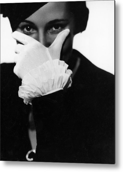 Hiding Metal Print featuring the photograph Half Concealed Face by Nicolet