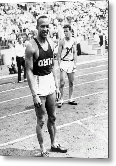 People Metal Print featuring the photograph Jesse Owens At Olympic Tryouts by Bettmann