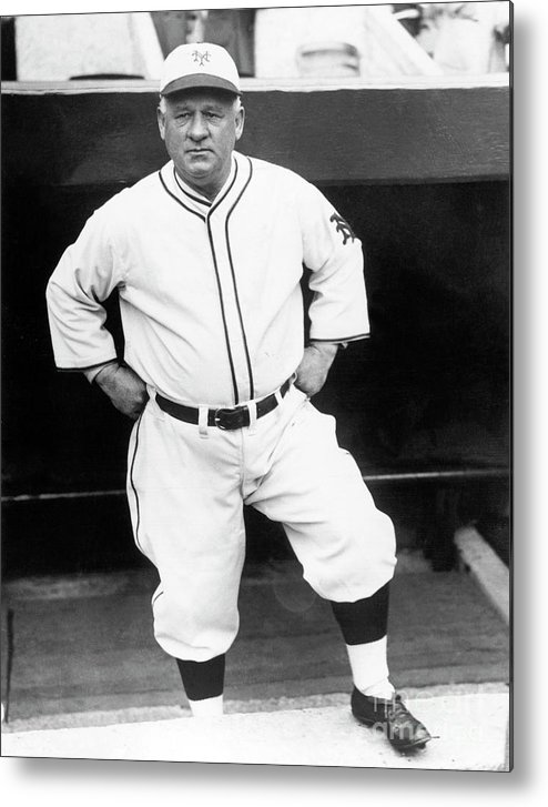 Professional Sport Metal Print featuring the photograph John Little Napoleon Mcgraw by National Baseball Hall Of Fame Library