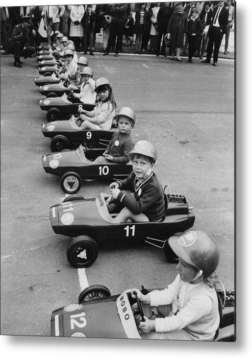 Crash Helmet Metal Print featuring the photograph Junior Grand Prix by Douglas Miller