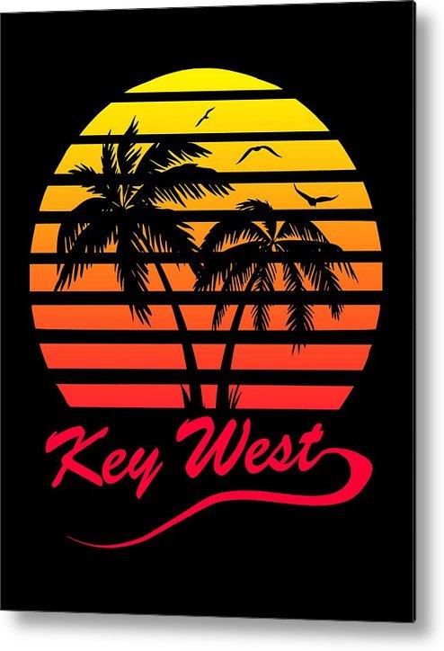 Key Metal Print featuring the digital art Key West by Filip Schpindel