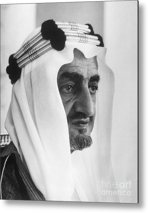 People Metal Print featuring the photograph King Faisal by Bettmann