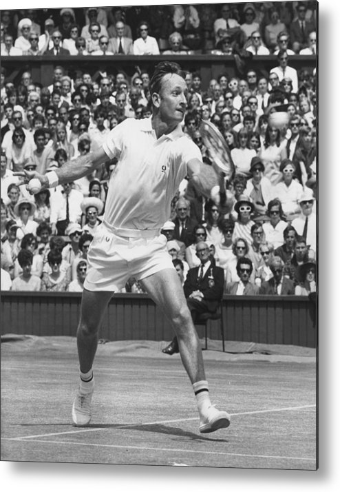 Crowd Metal Print featuring the photograph Laver V Roche by George Freston