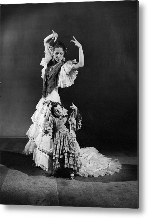 Child Metal Print featuring the photograph Learning To Dance by Baron