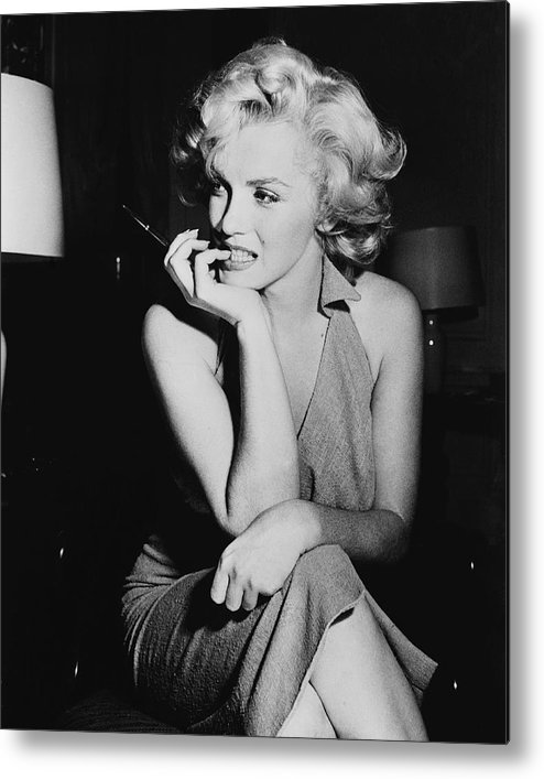 Marilyn Monroe Metal Print featuring the photograph Marilyn Monroe by Keystone Features