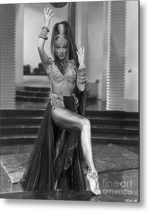 People Metal Print featuring the photograph Marlene Dietrich Dressed As Harem Queen by Bettmann