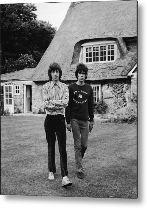 Rock Music Metal Print featuring the photograph Mick & Keith In The Country by Express Newspapers
