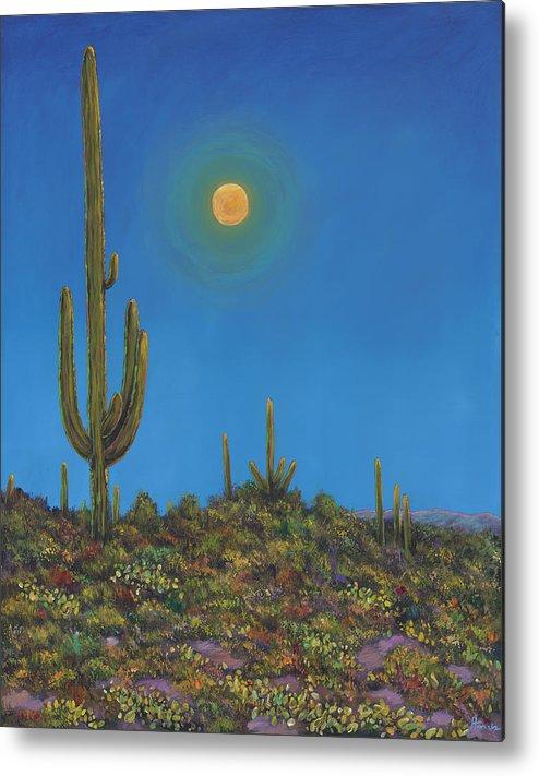 Arizona Metal Print featuring the painting Moonlight Serenade by Johnathan Harris