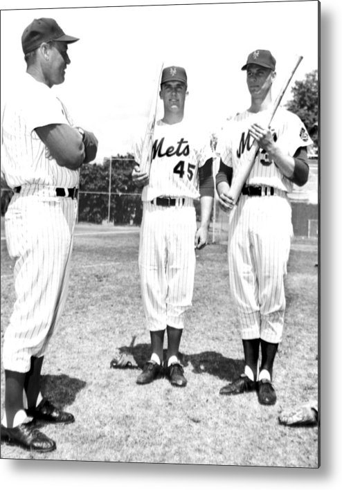 American League Baseball Metal Print featuring the photograph New York Mets Manager Wes Westrum by New York Daily News Archive
