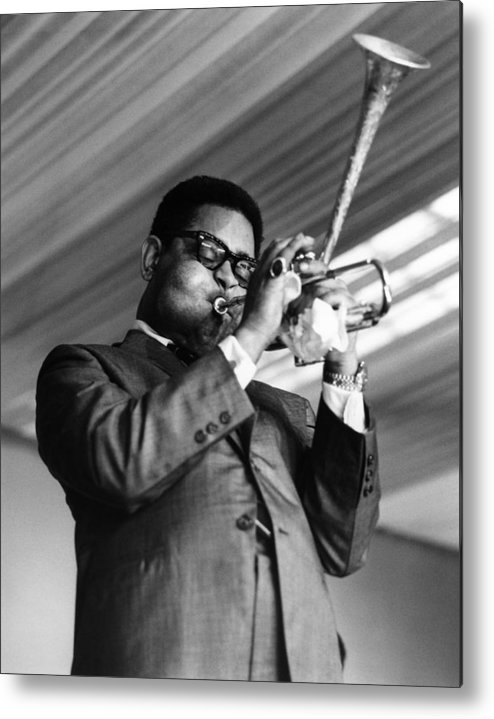 Music Metal Print featuring the photograph Photo Of Dizzy Gillespie by David Redfern